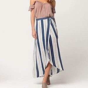 Patrons of Peace flowy striped skirt